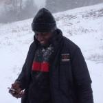 Papa im Schnee 2